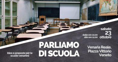A Venaria si parla di scuola.